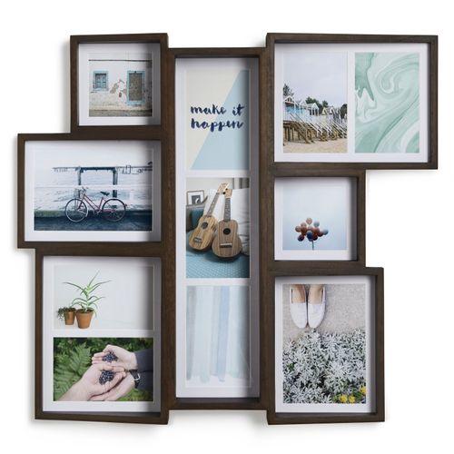 Umbra Senza Edge Multi Desk Photo Display Bilderrahmen Fotorahmen Holz Walnuss 1005423-746 – Bild 4
