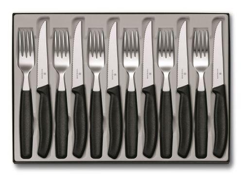 VICTORINOX Tafelbesteck Besteck 12-teilig Besteckkasten Steakmesser 6.7233.12