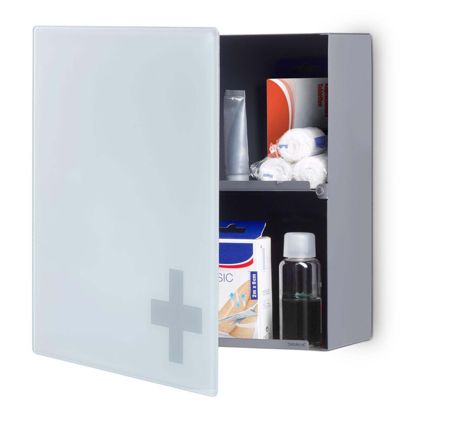 blomus erste hilfe schrank medico medizinschrank medikamentenschrank 68958 hersteller blomus. Black Bedroom Furniture Sets. Home Design Ideas