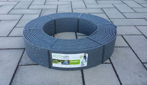 Rasenkante 8,3 m Beetumrandung Beeteinfassung Mähkante Profilband 14 cm hoch ECOLAT – Bild 10