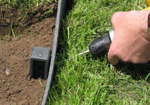 Rasenkante 8,3 m Beetumrandung Beeteinfassung Mähkante Profilband 14 cm hoch ECOLAT – Bild 8