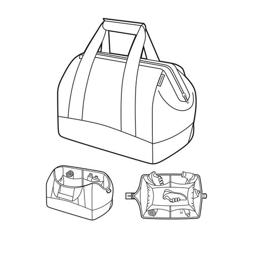 reisenthel allrounder L Reisetasche Tasche Sporttasche basalt grau MT7043 – Bild 2