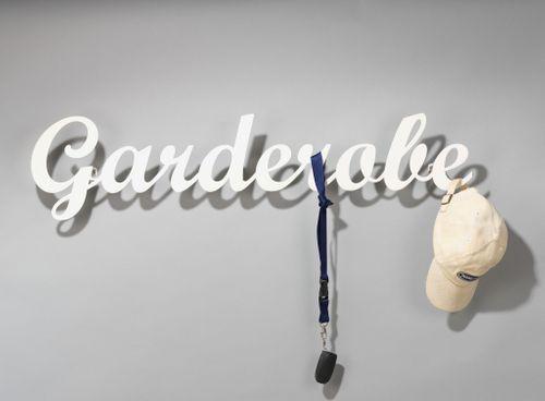 Klein & More Wandgarderobe Garderobe Kleiderhaken Hakenleiste cremeweiß weiß 10943 – Bild 2