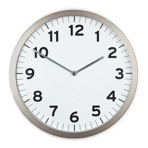 UMBRA Wanduhr ANYTIME Uhr Metall weiß 1005476-660 – Bild 1