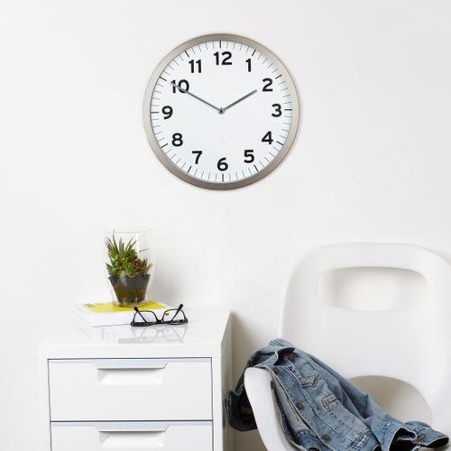 UMBRA Wanduhr ANYTIME Uhr Metall weiß 1005476-660 – Bild 3