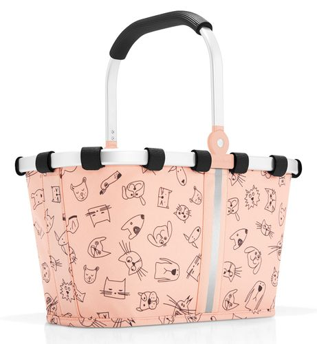 reisenthel carrybag XS kids Einkaufskorb Kinderkorb cats and dogs rose rosa IA3064 – Bild 1