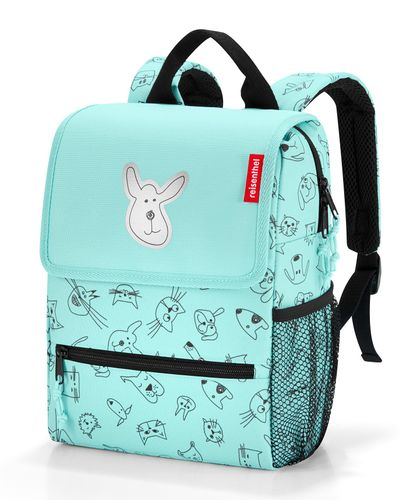 reisenthel backpack kids Rucksack Kinderrucksack cats and dogs mint grün IE4062