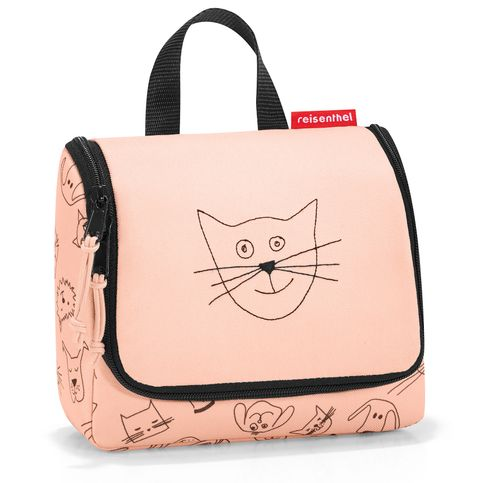 reisenthel toiletbag S kids Kulturbeutel Waschtasche cats and dogs rose rosa IO3064 – Bild 1