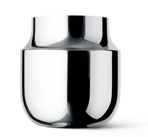MENU Tactile Edelstahl Vase breit Blumenvase Dekoration 4730059
