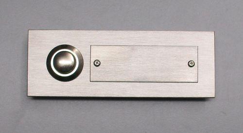 Edelstahl Klingel Klingelplatte Klingeltaster 1-reihig mit Gravurplatte