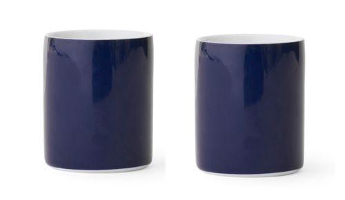 MENU Design Kaffeetassen VERNER PANTON Set 2 Tassen Porzellan blau 4552709