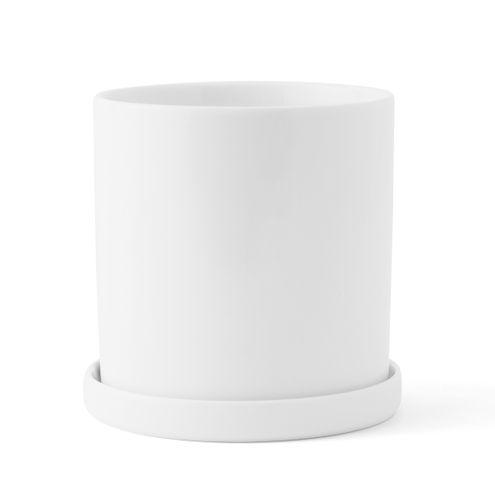 MENU Design Pflanztopf VERNER PANTON Pflanzgefäß Blumentopf Porzellan weiß 4562639
