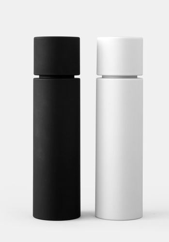 MENU 2er Set Pfeffermühle und Salzmühle Gewürzmühle ash carbon schwarz weiß 4416399