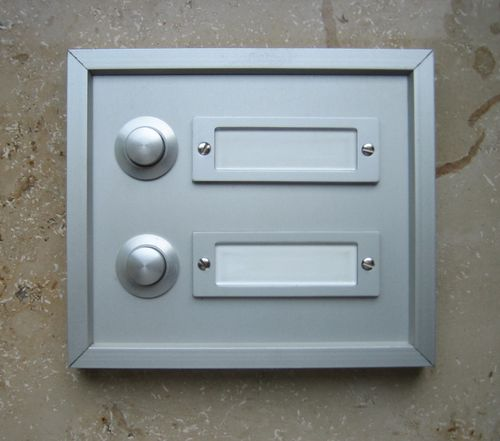 Aluminium Klingel Klingelplatte Klingeltaster 2-reihig