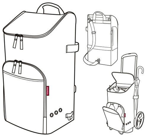 reisenthel citycruiser bag Einkaufstasche für citycruiser rack diamonds rouge rot DF3065 – Bild 7