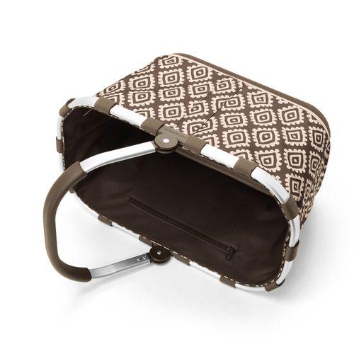 reisenthel carrybag 2 Einkaufskorb Tasche Korb diamonds mocha braun BL6039 – Bild 3