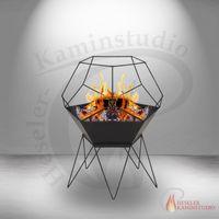 Premier Feuerkorb Sferis schwarz 60 x 60 x 72 Feuerschale 001