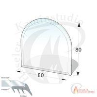 ESG Glasbodenplatte 8 mm Halbkreis 80x80 cm mit Facette 001