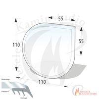 ESG Glasbodenplatte 8 mm Tropfen 110x110 cm mit Facette