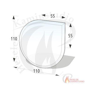 ESG Glasbodenplatte 6 mm Tropfen 110x110 cm mit Facette