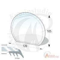 ESG Glasbodenplatte 8 mm Kreisabschnitt 120x105 cm mit Facette 001