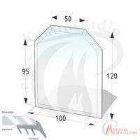 ESG Glasbodenplatte 8 mm Sechseck 100x120 cm mit Facette 001
