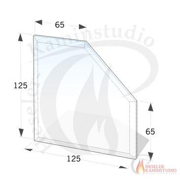 ESG Glasbodenplatte 6 mm Fünfeck 125x125 cm mit Facette