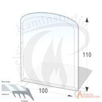 ESG Glasbodenplatte 8 mm Zunge 100x110 cm mit Facette 001