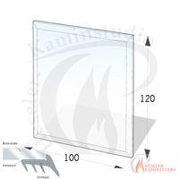 ESG Glasbodenplatte 8 mm Rechteck 100x120 cm mit Facette 001