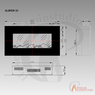 LED Elektrokamin Aflamo Albion 33 White (0% Finanzierung) – Bild 3
