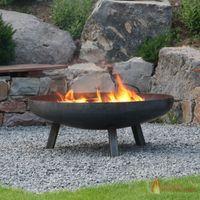 Feuerschale DCG Texas in Rohstahl ☆ (von 55 bis 120 cm Ø)