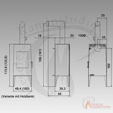 Kaminofen Rika Look ☆ 6 kW Rikatronic3 (0% Finanzierung) – Bild 4
