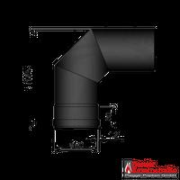 Pellet-Rohr Ø 80 mm // Bogen 2x45° schwarz