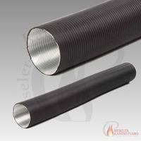 Alu-Flexrohr hitzebeständig bis 200 °C Länge 150 cm schwarz 001
