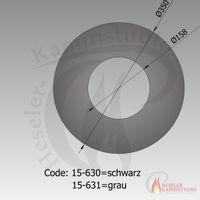 Rauchrohr-Rosette 9cm Ø150 schwarz 15-630 001