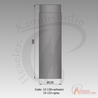 Rauchrohr-Verlängerung 500mm Ø150 grau 15-131