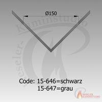 Rauchrohr-Rosette Ecke außen Ø150 grau 15-647 001
