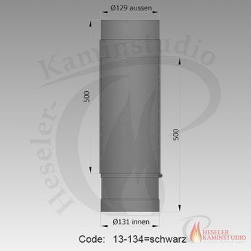 Rauchrohr-Teleskop 500-800mm Ø130 schwarz 13-134