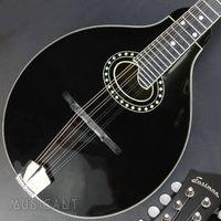 EASTMAN MD404-BK A-Style Mandoline, ovales Schallloch, vollmassiv, Nitro-Lack