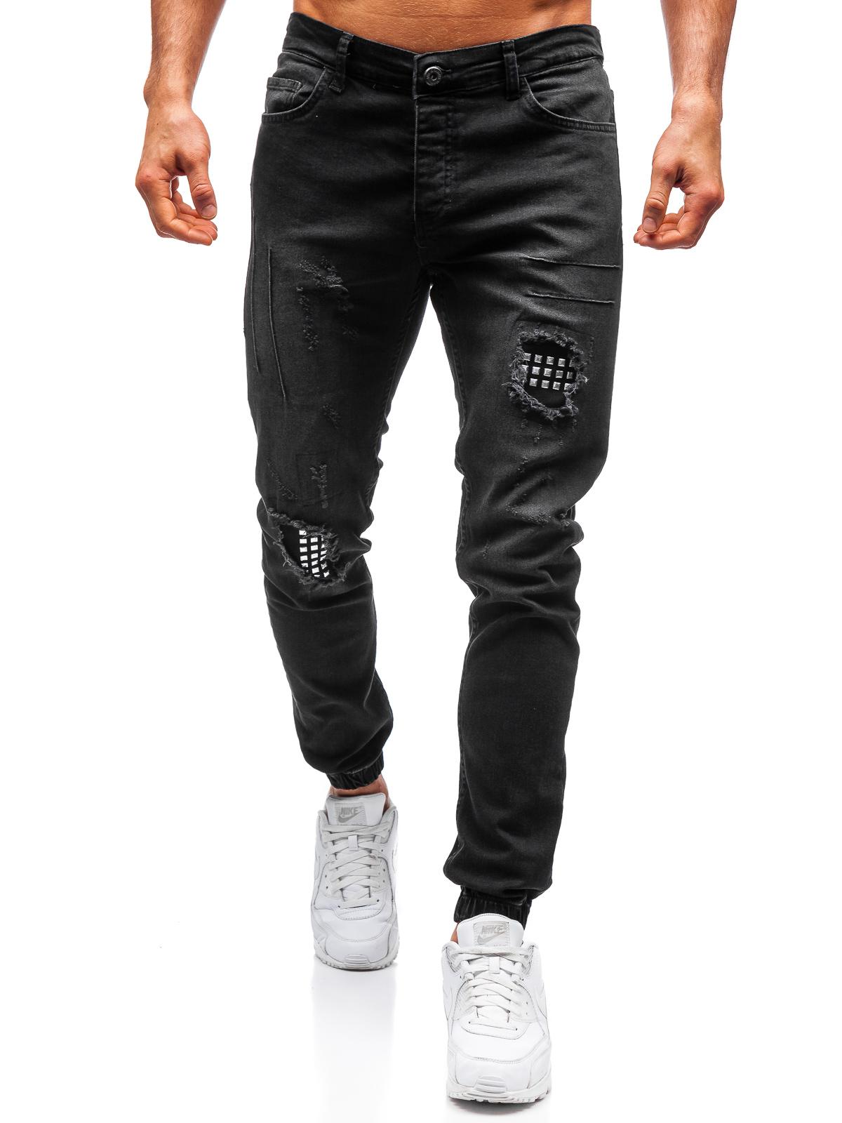 Jeans Hose Freizeithose Denim Clubwear Classic Casual Herren BOLF 6F6 Motiv