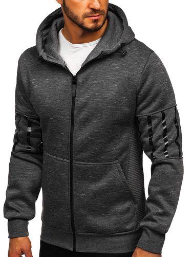 Herren Sweatshirt Sweatjacke Pullover Stehkragen Pulli Casual BOLF 1A1 Motiv