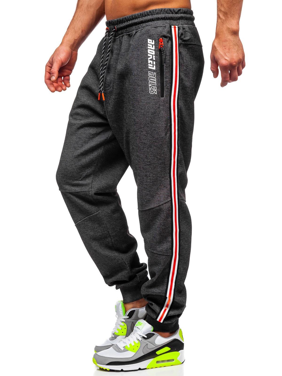 Joggerhose Hose Trainingshose Sporthose Laufhose Classic Sport Herren BOLF Motiv