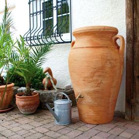 Regenspeicher Amphore Helena 300 liter terracotta