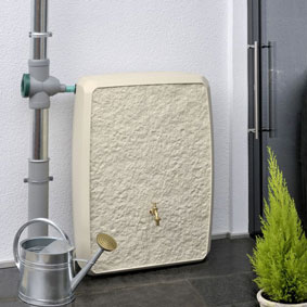 Regenspeicher eckig Multitank 250 liter sandstein
