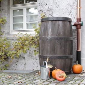 Regenspeicher Regenfass Burgund 500 liter braun