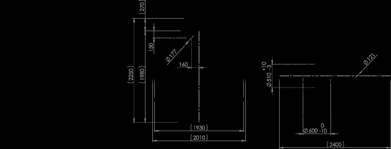 REWATEC BlackLine II 5200 Liter Zeichnung
