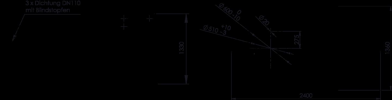 REWATEC BlueLine II 2.600 Liter Zeichnung