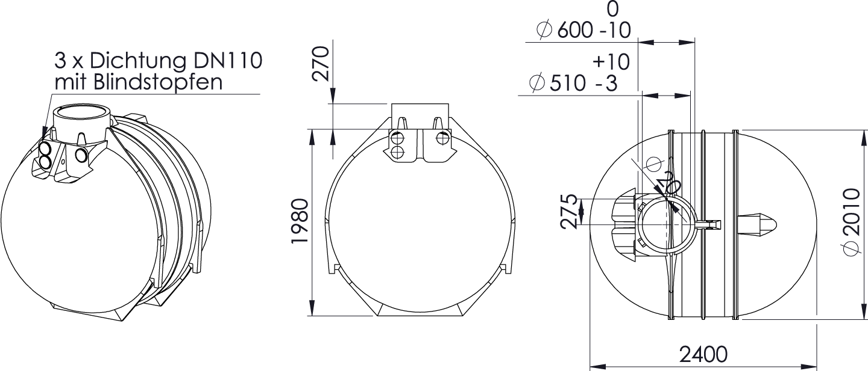 REWATEC BlueLine II 5.200 L Zeichnung