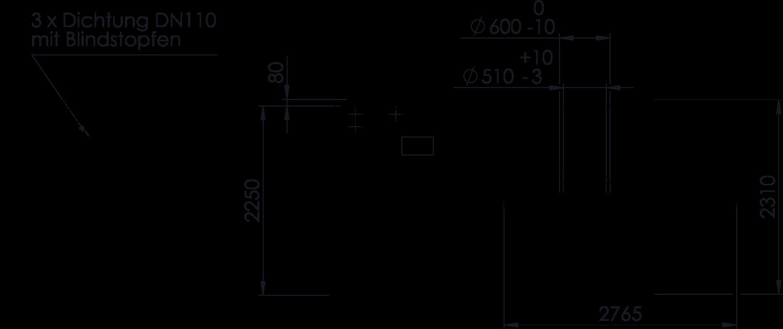 REWATEC BlueLine II 7.600 L Zeichnung