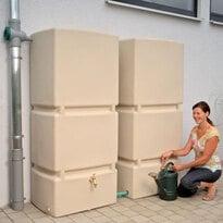 Regenwassertank oberirdisch 800 Liter Jumbo sandstein